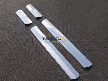 Накладки на пороги (лист зеркальный) MAZDA CX-5 2015